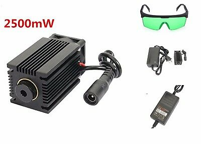 LA03-2500 445nm 2500mW Blue Laser Module With Heatsink For DIY Laser Engraver