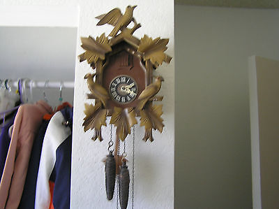 Vintage Regula  Cuckoo Clock Made In West Germany,weights And Pendulum