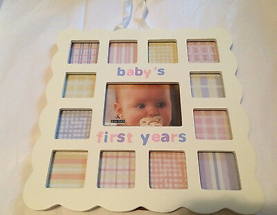 Malden International Designs Baby's 1st Year Wall Collage  Baby Picture Frames