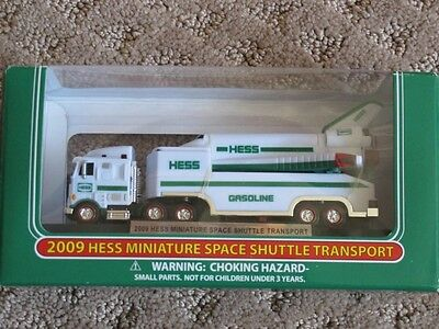 2009 Hess Truck mini space shuttle and transport miniature NIB FREE SHIPPING