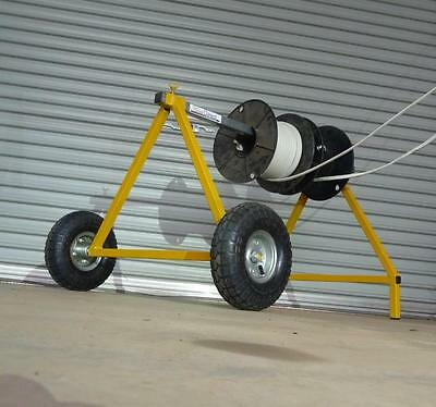 Mobile Cable Drum Dispenser to unroll drums of cable, wire, chain and rope.