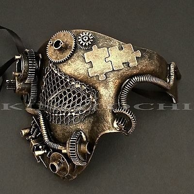 Steampunk Phantom Half Face Halloween Masquerade Prom Costume Party Masks