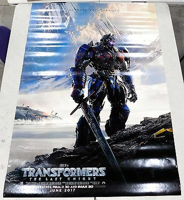 Transformers The Last Knight 2017 48x70 Movie Theater Poster Original 2-Sided