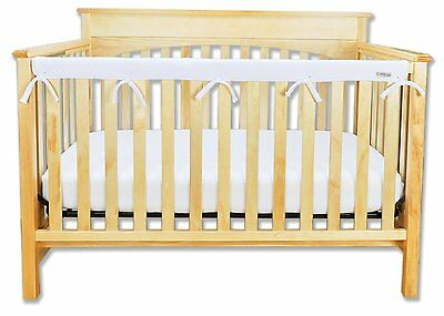 """Crib Wrap by Trend Lab ~1 Long Rail Cover for Narrow Rail, White (up to 8"""")"""