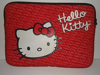 Hello Kitty laptop case with logo pull tab on zipper
