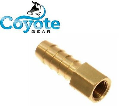 "3/8"" HOSE BARB X 1/8 FNPT FEMALE Brass Pipe Thread Fitting NPT Coyote Gear"