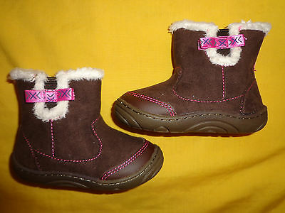 Stride Rite Baby Girl Boots 5M Brown Color New