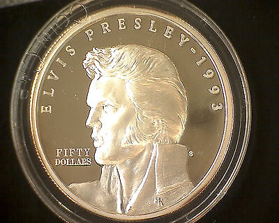 The $50 Elvis Presly Silver Proof Commemorative Coin