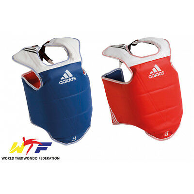 Adidas Reversible Chest Protector Guard WTF Approved Taekwondo
