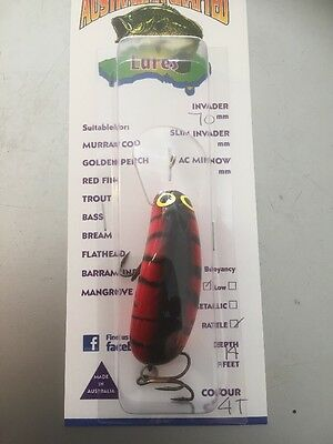 Australian Crafted Lures- cod 70mm invader 14ft a.c lures Ac Lures Aussie Made