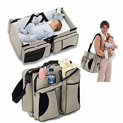 Baby Travel Bag Portable Waterproof Baby Crib Folding Bed Baby Bassinet Diape...
