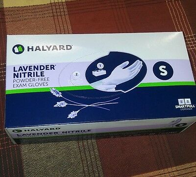 Halyard Lavender Nitrile Powder-Free Exam Small Gloves Box of 250