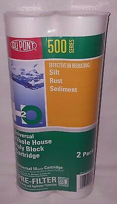 Dupont 500 Series Universal Whole House Poly Block Cartridge Water Filter 2 Pack