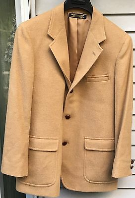Brooks Brothers Tan 100% Camel Hair Blazer Sport Coat 3-Button Jacket, Men's 38R
