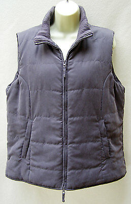 Suzanne Grae charcoal padded sleeveless vest ~ Size 14