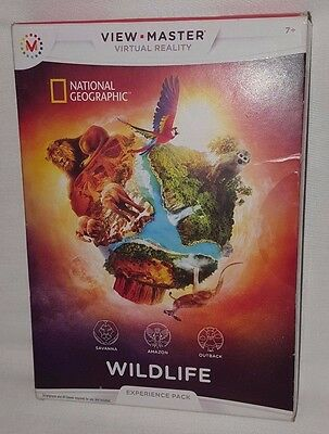 View Master Virtual Reality Experience Pack National Geographic Wildlife NEW
