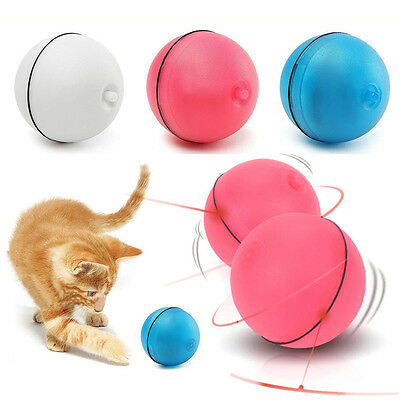 Pet Cat Dog LED Light Laser Ball Teaser Exercise Automatic Interactive Toy