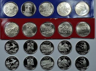 2008 P D S & S State quarters mint, proof & silver  Ships free