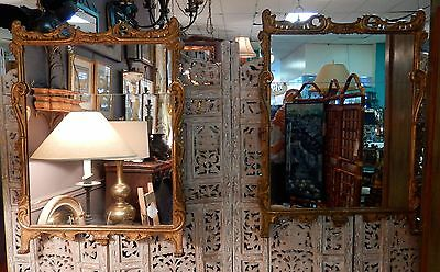 Vintage/antique Hard To Find Pair Of Italian Gold Gilded Framed Divided Mirrors