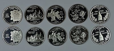 2000 P D S & S State quarters mint, proof & silver  Ships free