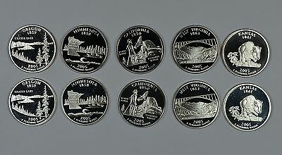 2005 P D S & S State quarters mint, proof & silver  Ships free