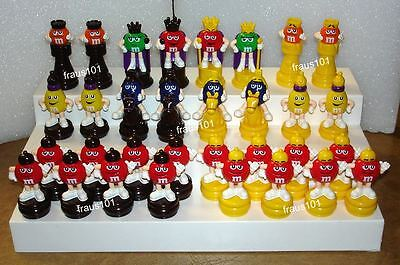 Complete 32 Piece M&M's Chess Set Toppers from Asia