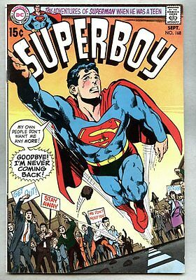 Superboy #168-1970 fn Neal Adams Bob Brown / a classic Superboy cover