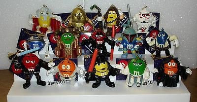 Set of 14 M&M's 2005 Star Wars Resin Character Ornaments