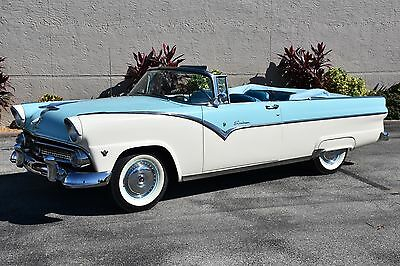1955 Ford Other 272CI V8 Power top Fordomatic 1955 Ford Sunliner 272CI V8 Power top Fordomatic 0 Waterfall Blue/White Converti