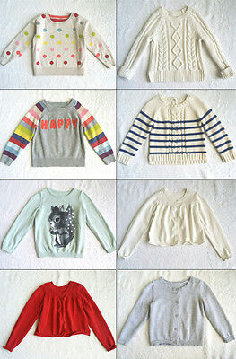 Baby Gap Toddler Girls LS Graphic Pullover Sweater & Cardigan H&M Old Navy 3T