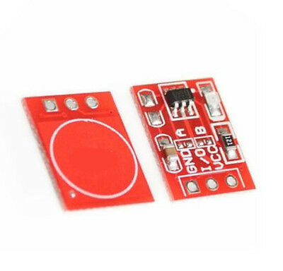 2PCS TTP223 Capacitive Touch on-off switch Button Self-Lock Module Hi-Q