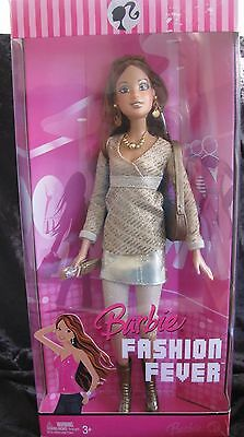 2007 Barbie Fashion Fever Teresa in gold outfit. NRFB