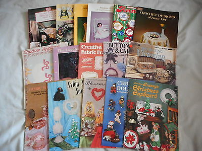 BULK LOT OF MIXED CRAFT BOOKS a total of 16 books SEWING, EMBROIDERY AND MORE