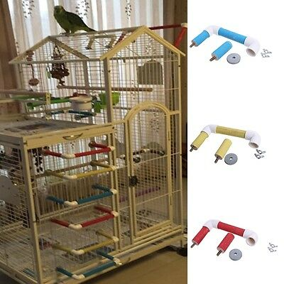 Bird Pet Parrot Cage Perch Stand Platform Playing Toys Paw Grinding Chew Bite