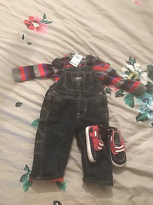 Baby Dungarees Set 6 Months