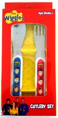 The Wiggles Cutlery Set Spoon Fork 2 Piece Set for Kids