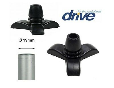 "Drive Medical 19mm (3/4"") Tri-Support 3 Footed Cane Walking Stick Tip Ferrule"