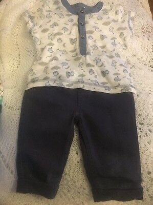 LOVELY BABY BOY Tu 2 PIECE SET TOP & TROUSERS Up 3-6 Months