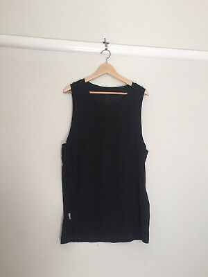 Men's Icebreaker Tank Top Black Size XL
