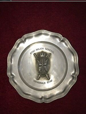 Dutch 'Generale Staf' Military Plate Antique