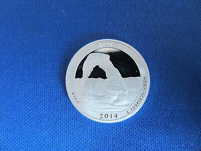 2014-S Silver Quarters ARCHES UTAH Deep Cameo Mirror Proof America the Beautiful