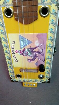 "Cigar box slide guitar 4 string 25.5"" scale length acoustic/electric"