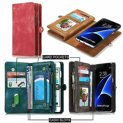 Samsung Galaxy S8/S8 Plus Leather Case Removable Wallet Card Magnetic Flip Cover