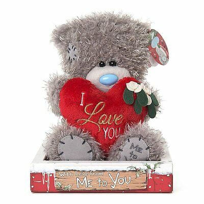 Me To You Tatty Teddy Bear Holding A Heart With Message I Love You by Me To You