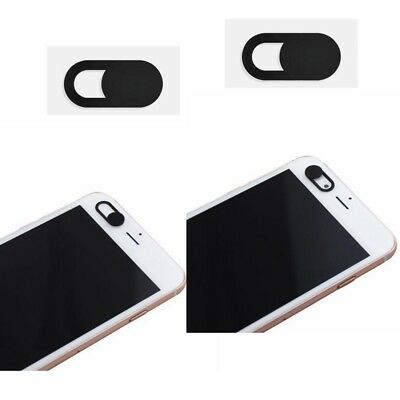 Hot 2Pcs WebCam Shutter Cover Web Camera Secure Your Privacy Protection-Black