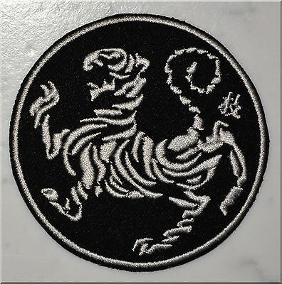 Shotokan Karate Tiger S B&W IRON ON PATCH Aufnäher Parche brodé patche toppa
