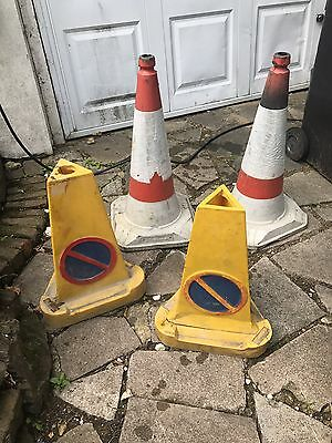 Road Traffic Cones - set of four