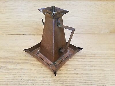 STICKLEY BROTHERS COPPER CHAMBERSTICK Arts & Crafts Antique Candlestick Holder