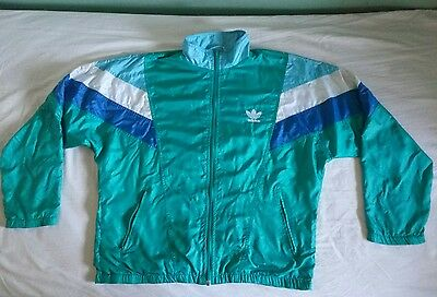 Adidas 90s vintage jacket green & blue