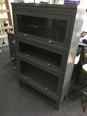 Vintage Industrial Art Metal Stacking Cabinet Storage